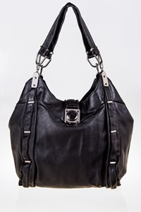 Céline Dimitri Black Leather Shoulder Bag