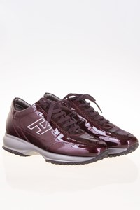 Hogan Interactive Maroon Patent Leather Sneakers / Size: 37 - Fit: 38