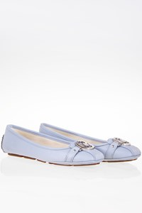 MICHAEL Michael Kors Fulton Moc Light Blue Leather Ballet Flats / Size: 6 ½ M (36.5)  - Fit: 37
