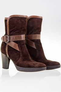 Tod's Brown Suede Strappy Booties / Size: 36 ½ - Fit: True to size