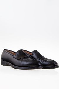 Polo Ralph Lauren Black Polished Leather Penny Loafers / Size: 41.5 (8½) - Fit: True to size