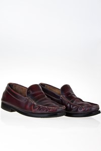 Tod's Maroon Leather Penny Loafers / Size: 40.5 (6½) - Fit: True to size