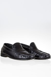 Tod's Black Leather Loafers / Size: 41 (7) - Fit: 40.5
