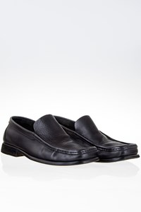 Gucci Black Leather Loafers / Size: 39.5 - Fit: 40.5