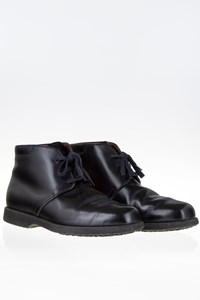 Tod's Black Leather Laced Desert Boots / Size: 41 (7) - Fit: 40.5