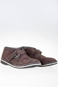 Geox by Patrick Cox Brown Suede Monk Boots / Size: ? - Fit: 40.5
