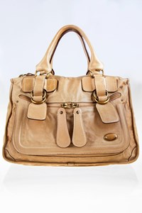 Chloé Bay Bag Beige Leather Large Tote Bag