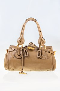 Chloé Paddington Taupe Leather Medium Tote Bag