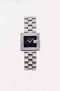 Gucci 3600M Steel Watch with Black Dial