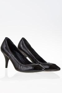 Prada Sport Black Leather Pumps / Size: 38.5 - Fit: True to size