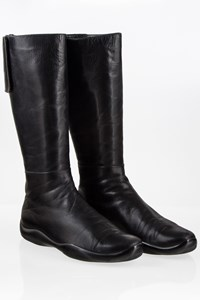 Prada Sport Black Leather Boots / Size: 39½ - Fit: True to size