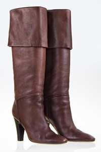 Vicini Brown Leather Over-the-Knee Boots / Size: 37 - Fit: True to size