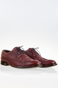 Louis Vuitton Burgundy Leather Men's Derby Shoes / Size: 7 (40.5) - Fit: True to size