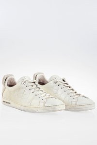 Louis Vuitton Frontrow White Crocodile Leather Sneakers / Size: 8½ (42.5) - Fit: True to size