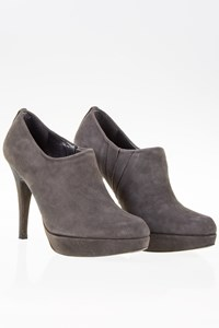 Stuart Weitzman Grey Suede Heel Ankle Boots / Size: 36 - Fit: True to size