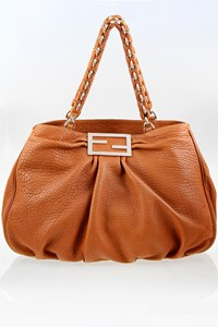 Fendi Borsa Mia Agnello Tan Leather Large Tote Τσάντα
