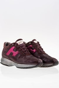 Hogan Brown - Burgundy Interactive Leather Sneakers / Size: 39 - Fit: 40