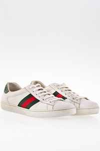 Gucci Ace White Leather Sneaker / Size: 8 US (41.5) - Fit: True to size