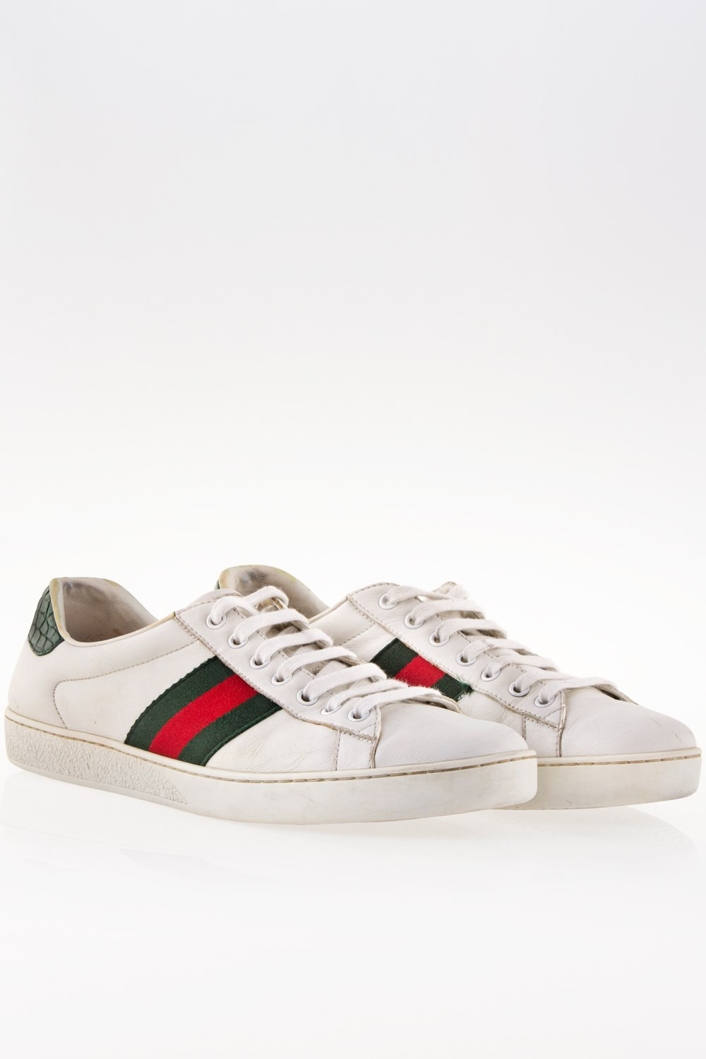 a8783b4852 Ace Αντρικά Λευκά Δερμάτινα Sneakers   Μέγεθος  8 US (41.5 ...