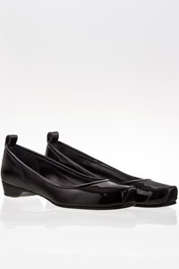 Marc By Marc Jacobs Black Patent Leather Ballerinas / Size: 39.5 - Fit: True to size