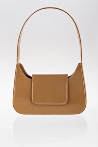 Lancel Taupe Leather Shoulder Bag