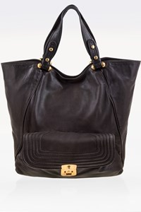 Marc By Marc Jacobs Nearly Black Leather Shoulder Bag