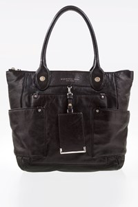 Marc By Marc Jacobs Preppy Black Leather Hayley Tote Bag
