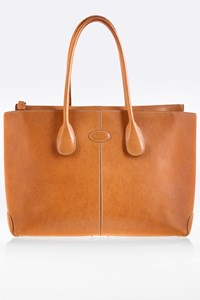 Tod's Classic-D Tan Leather Tote Bag