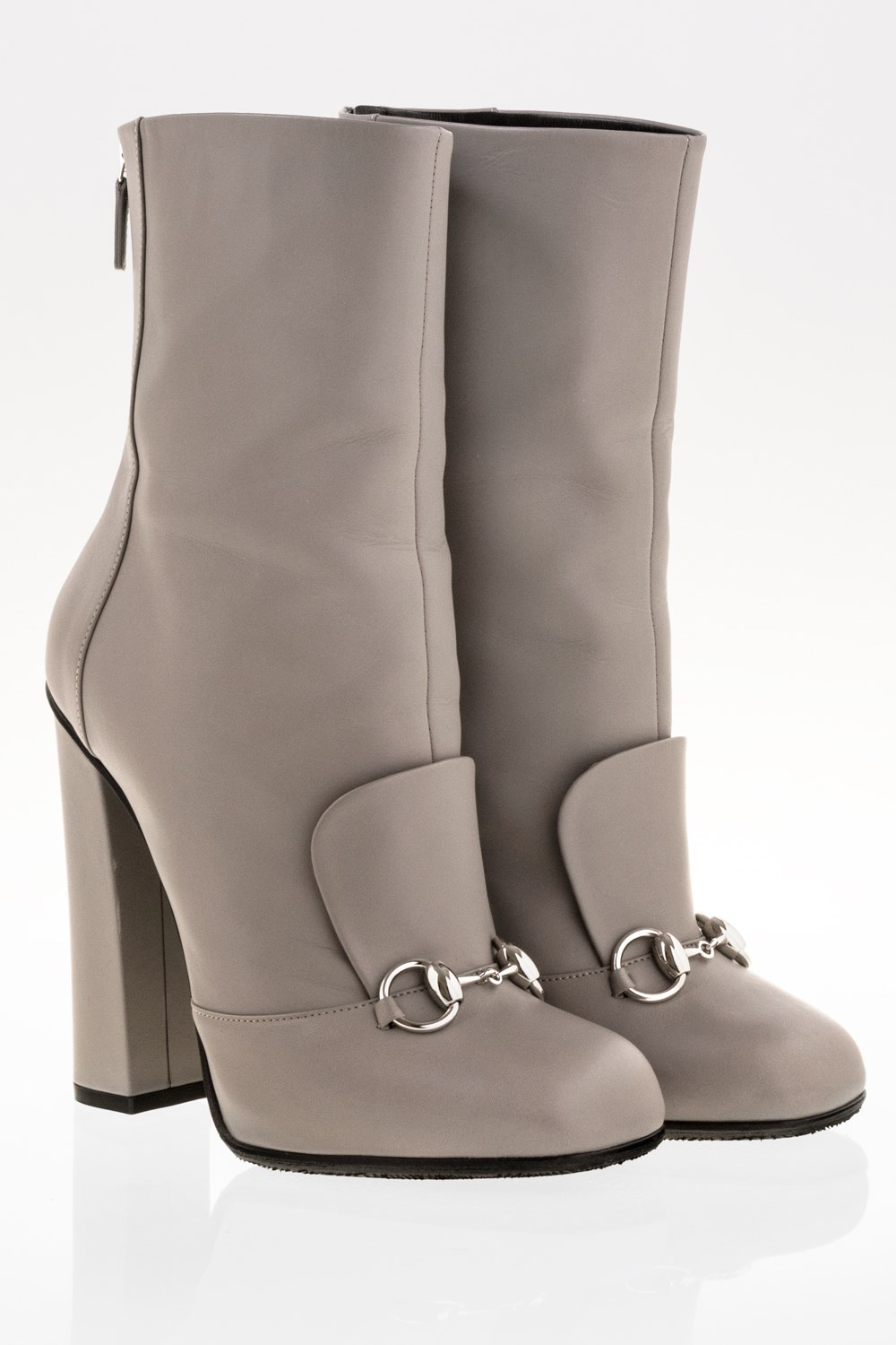 785417c3a08e Grey Lillian Horsebit Leather Ankle Boots   Size  39 - Fit  True to ...