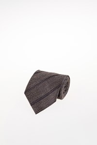 Ungaro Ecru-Black Textured Tie