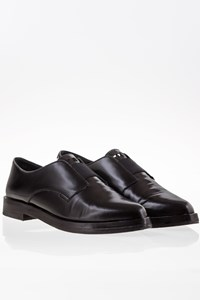 Tory Burch Black Mick Leather Oxfords / Size: 9M (39) - Fit: 40
