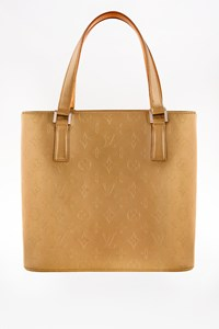 Louis Vuitton Stockton Ambre Mat Vernis Tote Bag