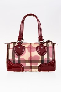 Burberry Supernova Check Canvas Heart Chester Bag