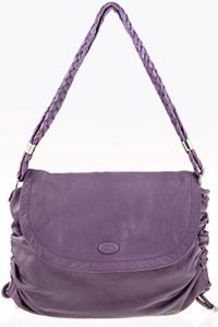 Tod's Lilac Goa Leather Very Large Shoulder Bag