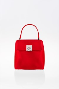 Salvatore Ferragamo Red Satin Mini Evening HandBag