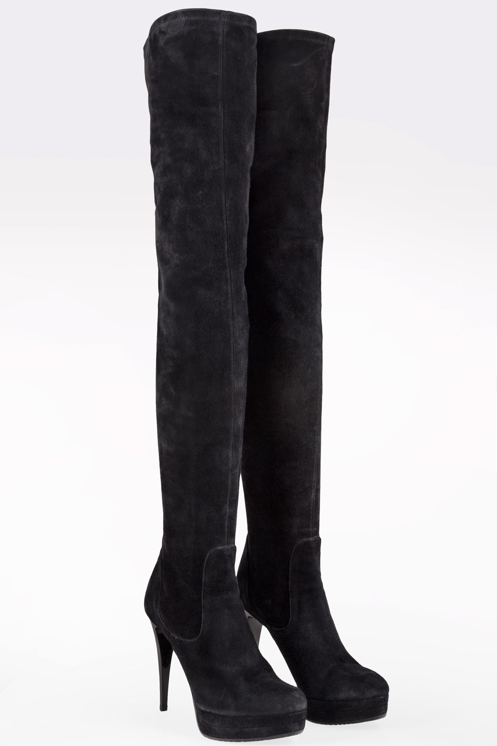 Black Suede Over-The-Knee Boots / Size