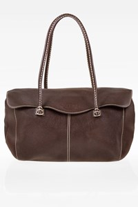Tod's Brown Corniche Wave East West Tote Bag