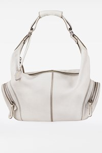 Tod's White Leather Tote Bag
