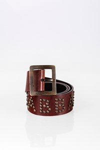 Dolce & Gabbana Brown Leather Studded Belt