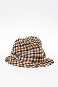 Aquascutum Unisex Check Printed Wool Trilby Hat