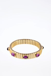 Nomination Italy Stainless Steel and Purple Cubic Zirconia Bracelet
