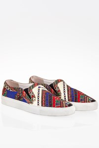 Givenchy Multicoloured Printed Slip On Sneakers / Size: 39 - Fit: Regular