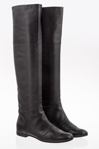Giuseppe Zanotti Black Leather Over the Knee Boots / Size: 38 - Fit: 38.5