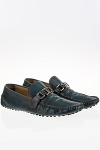 Louis Vuitton Blue-Black Leather Men's Mocassin / Size: 42 - Fit: True to size