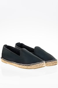 Manebi Dark Blue Leather Espadrilles Moccasins / Size: 39 - Fit: 38.5