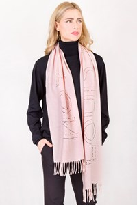 Louis Vuitton Pastel Pink Cashmere Perforated Scarf