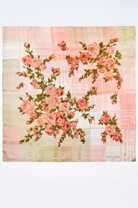 Jean Patou Multicoloured Silk Scarf with Roses
