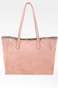Stella McCartney Dusty Pink Farabella Chain Tote Bag