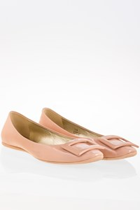 Roger Vivier Nude Patent Leather Ballerinas / Size: 39 - Fit: True to size