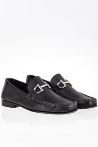Salvatore Ferragamo Chris Bit Black Leather Loafers / Size: 7.5 (40.5) - Fit: True to size